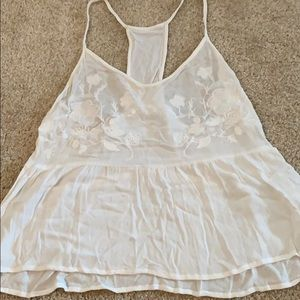 White baby doll tank top from Nordstrom